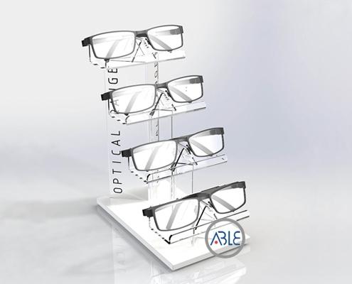 眼镜墨镜品牌专用亚克力展示架定制